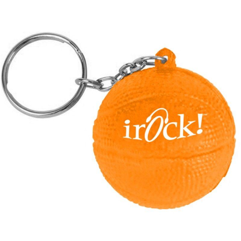Wholesale Basketball Stress Ball Key Chain