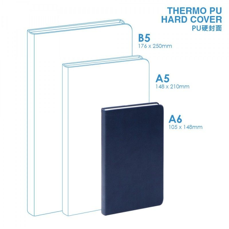 Wholesale PU A6 Hard Cover Notebook
