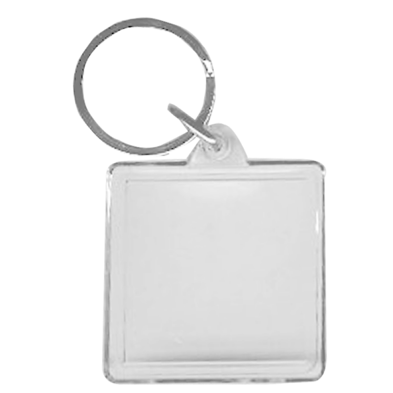 Wholesale BLANK - Snap-In Square Flat Key Tag-[BW-27069]
