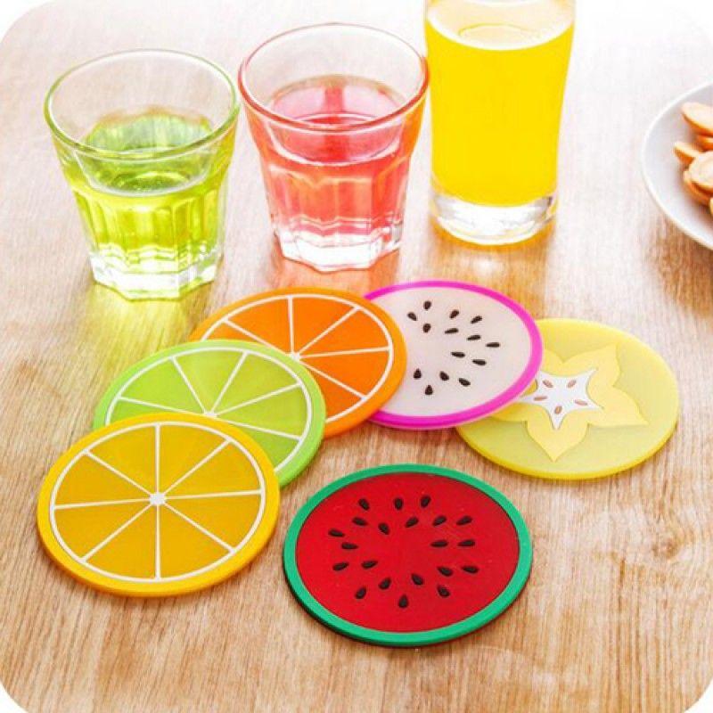 Wholesale Fruit Design 6 Piece Drink Coaster
