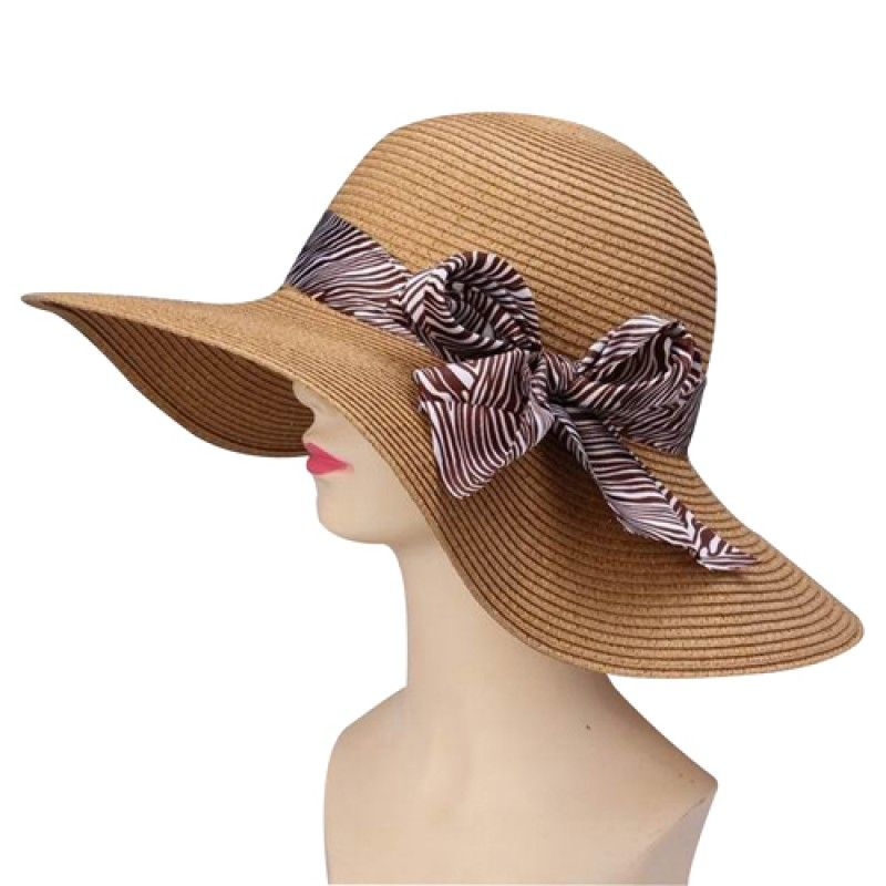 Wholesale Straw Summer Hat With Ribbon Visor