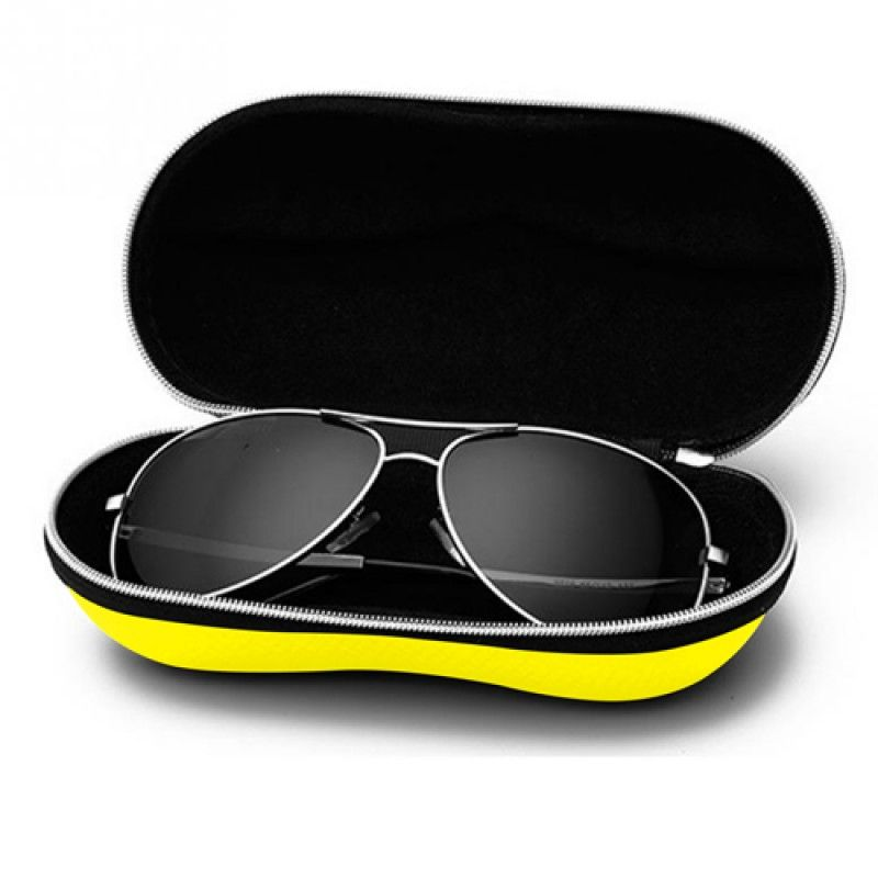 Wholesale Portable Fiber Zipper Glasses Case