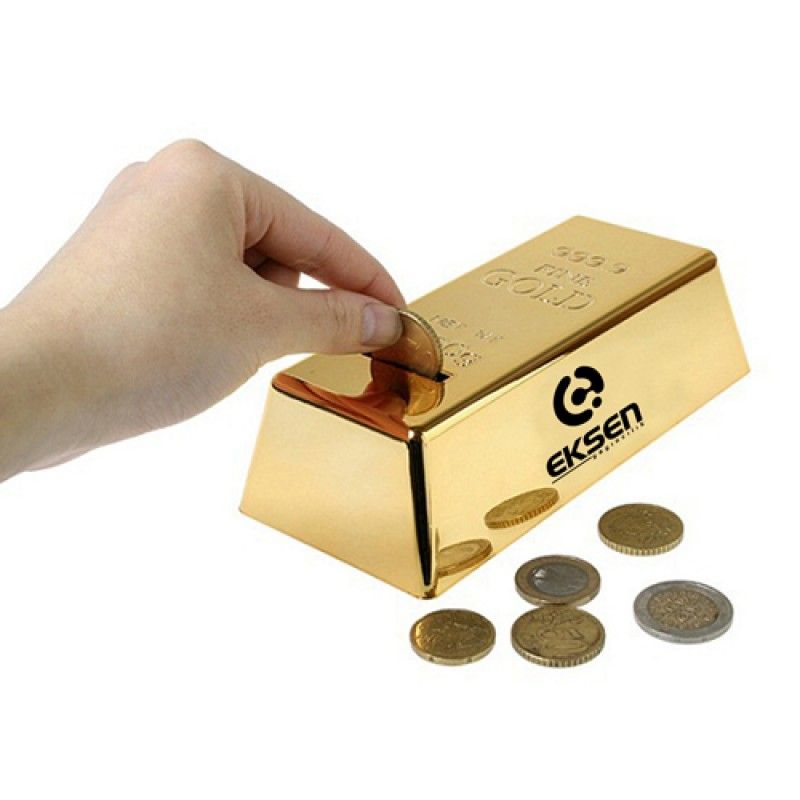 Wholesale Gold Bar Shape Piggy Bank
