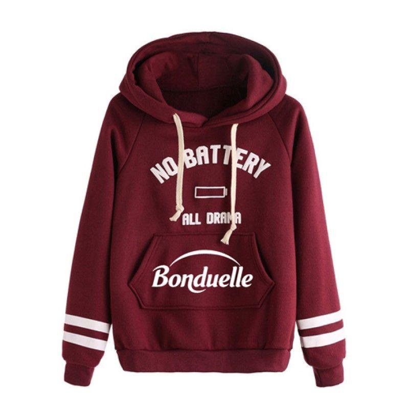 Wholesale Casual Drawstring Hoodie Sweatshirt