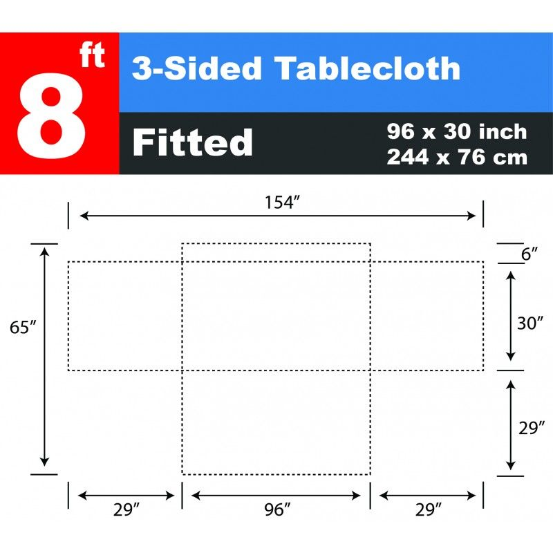 Wholesale 8 ft Table Cloth