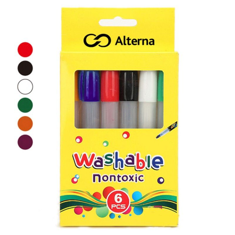 Wholesale Non Toxic Silky 6 Colors Pencil