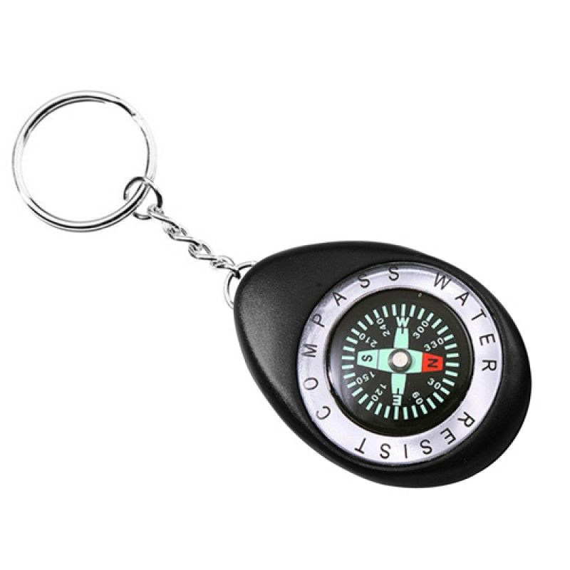 Wholesale Oval Shaped Compass Keychain