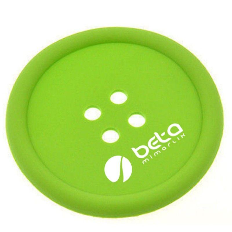 Wholesale Button Shape Silicone Coasters