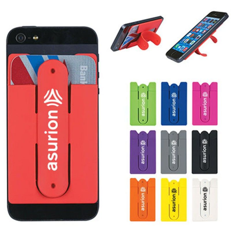 Wholesale 2 In 1 Silicone Mobile Wallet With Stand
