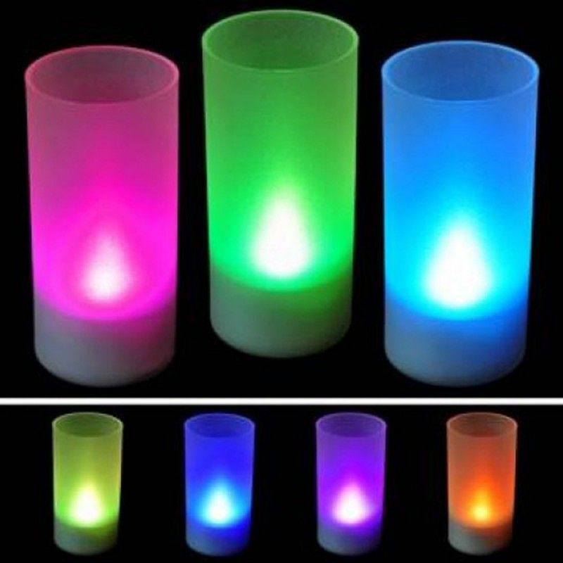 Wholesale 7 Color Led Candle With Plastic