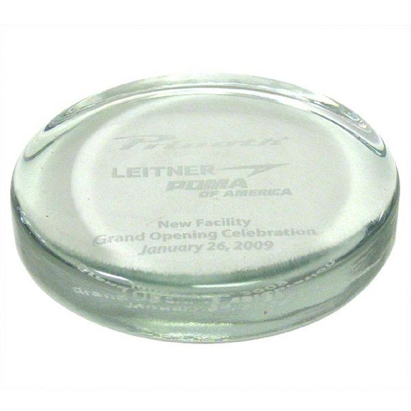 Wholesale Clear Round Paperweight-[FL-28006]