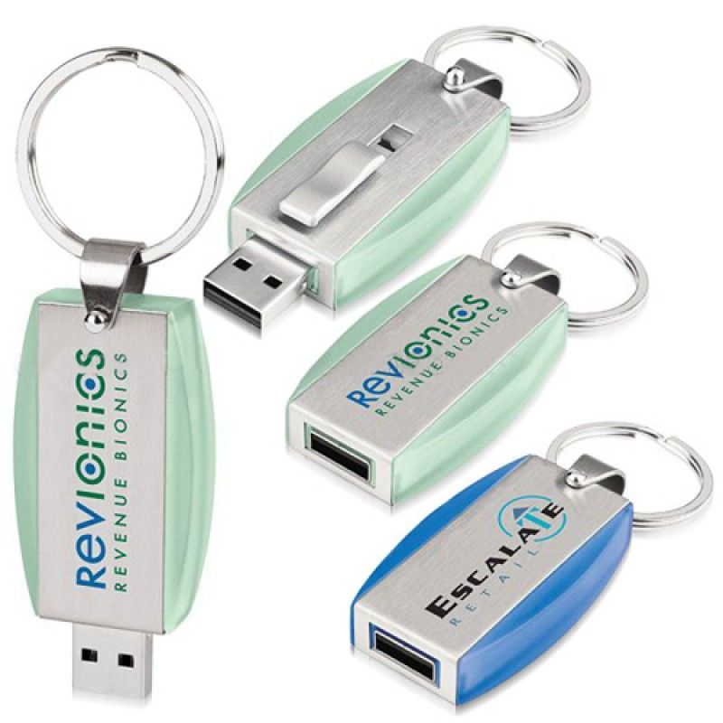 Wholesale 8GB Deluxe Keyring Flash Drive