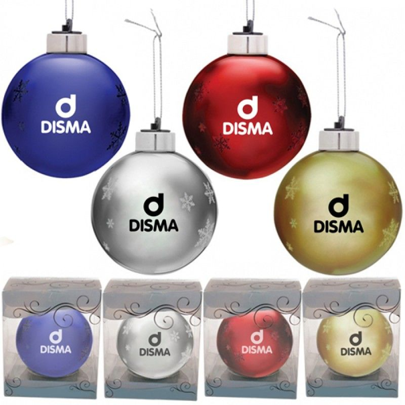 Wholesale Round Light-Up Glass Ornament