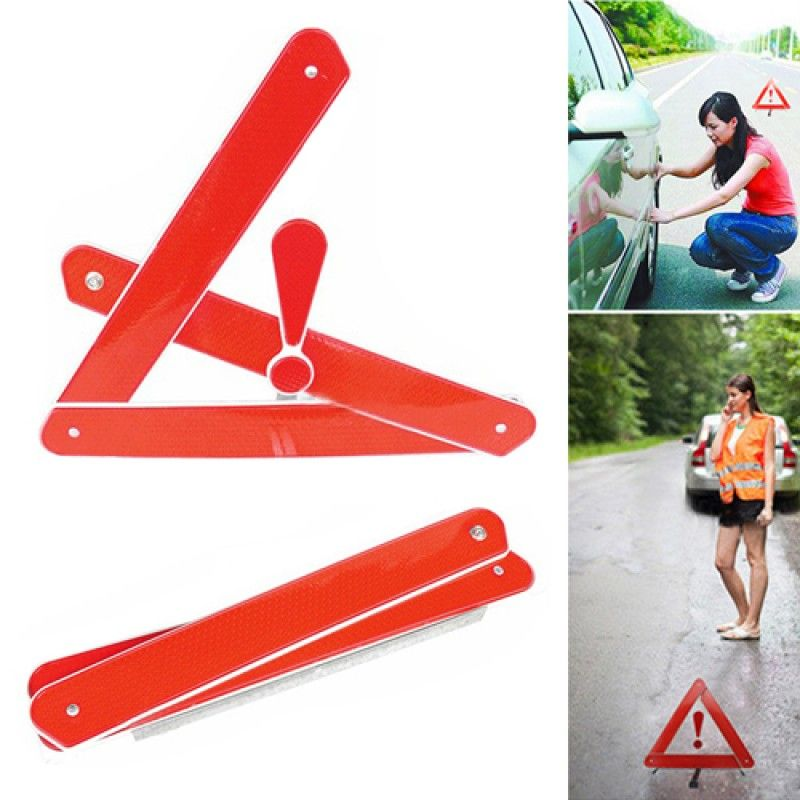 Wholesale Automobile Foldable Reflective Triangle Warning Sign