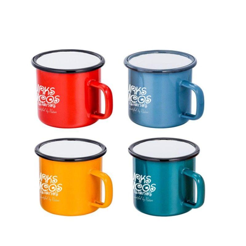 Wholesale Cute Ceramic Coating Metal Mug