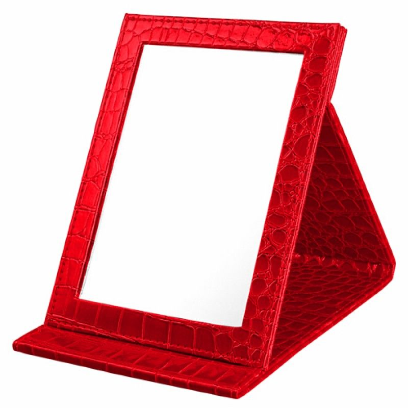 Wholesale Alligator Pattern Portable Folding Mirror