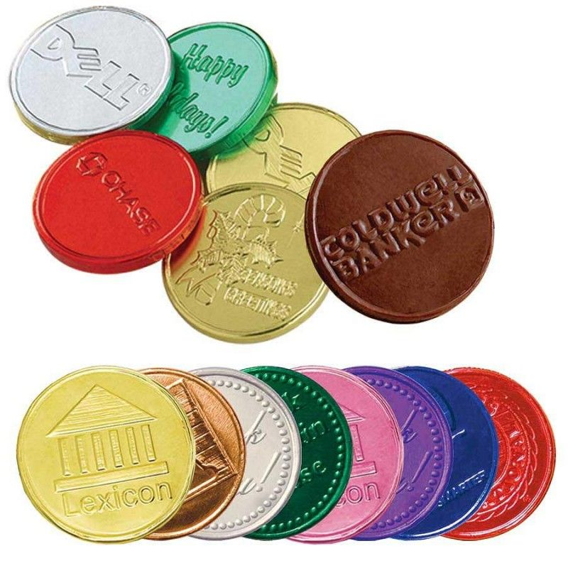 "Wholesale 1.5"" Belgian Chocolate Custom Embossed Coins-[AT-29003]"