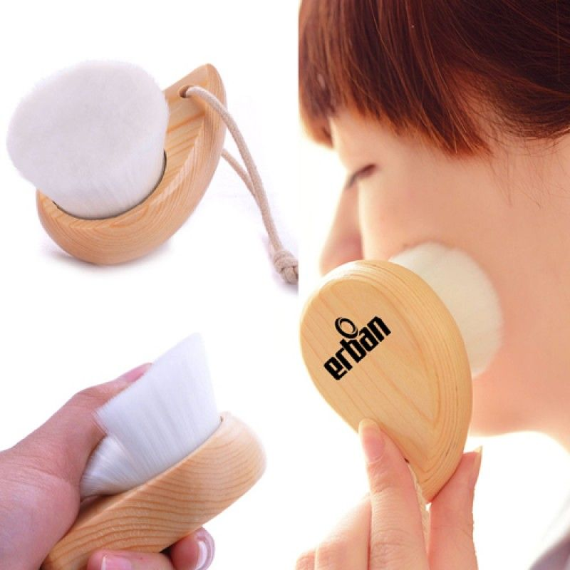 Wholesale Head Wood Face Cleaner Brush