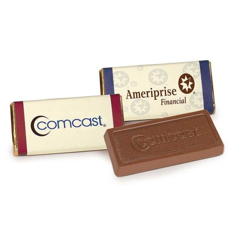 Wholesale 1 oz. Belgian Chocolate Bars w/ 4-Color Custom Wrapper-[AT-29004]