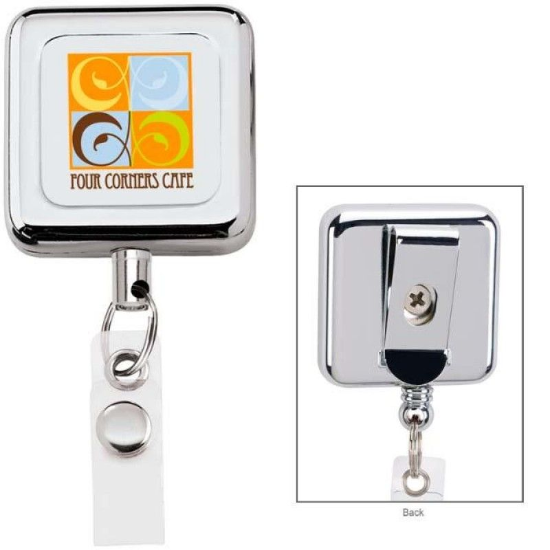 Wholesale Square Metal Retractable Badge Holder-[NW-91934]