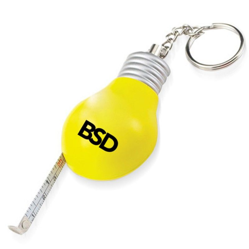 Wholesale Bulb Shaped Measuring Tape Keyring