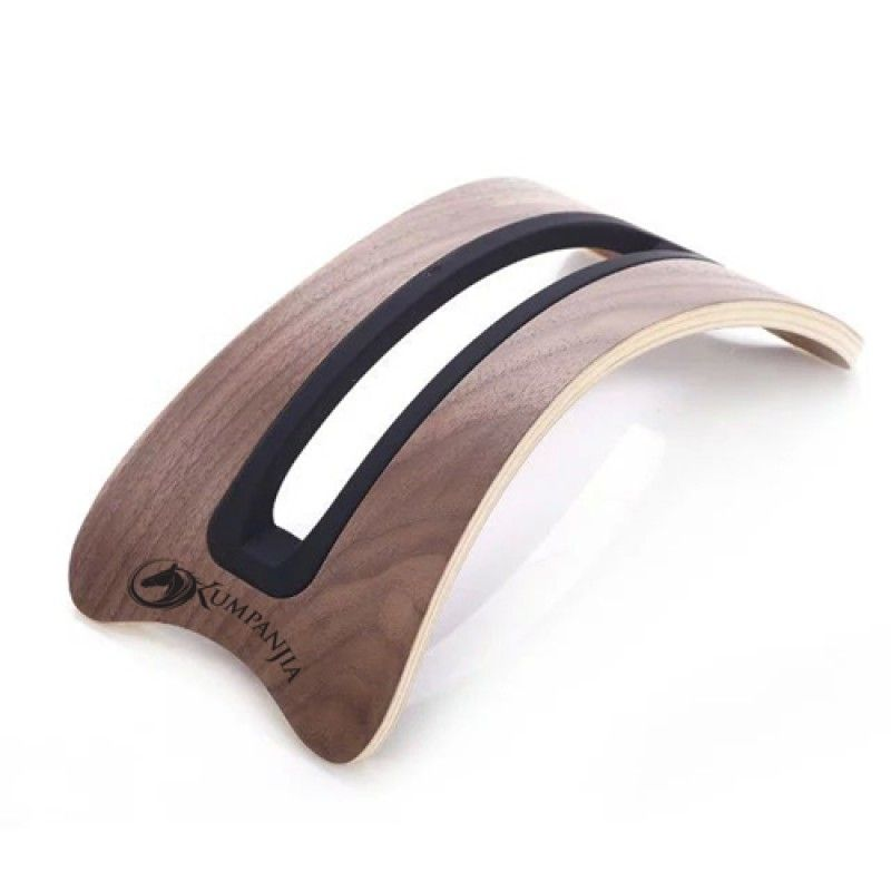 Wholesale Vertical Wooden Curved Base Laptop Stand