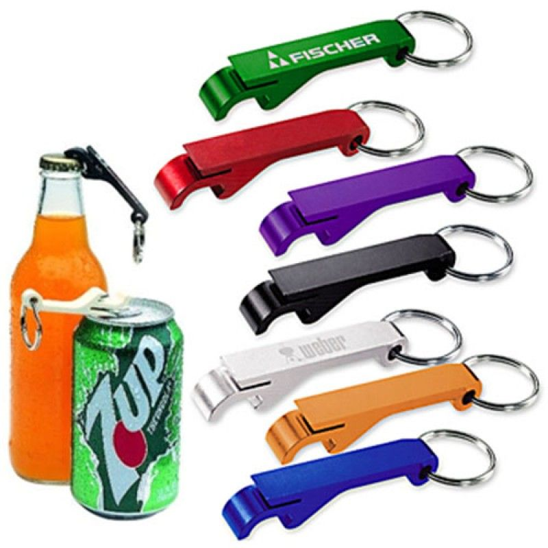 Wholesale Aluminium Bottle And Can Opener Keyring