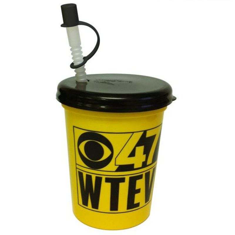 Wholesale 16 oz. Stadium Cup + Flyer Lid & Straw-[AA-29038]