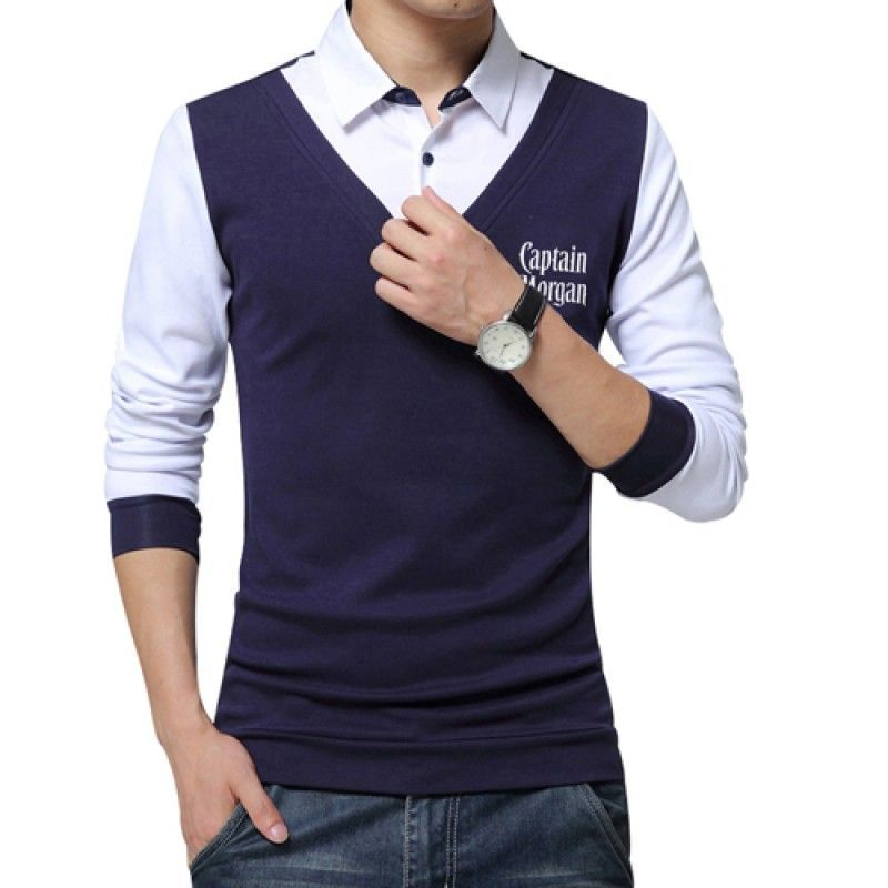 Wholesale False Two Fashion Mens Shirts
