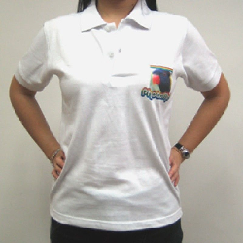 Wholesale PhotoMe White Polo Shirts