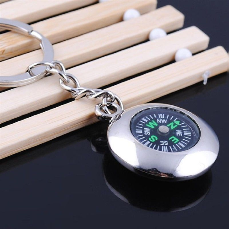 Wholesale Round Compass Metal Keychain