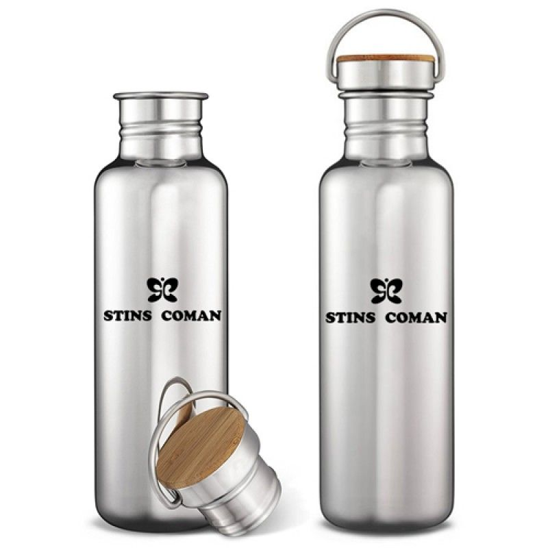 Wholesale Multi-Layer Stainless Steel Bottle With Bamboo Cap