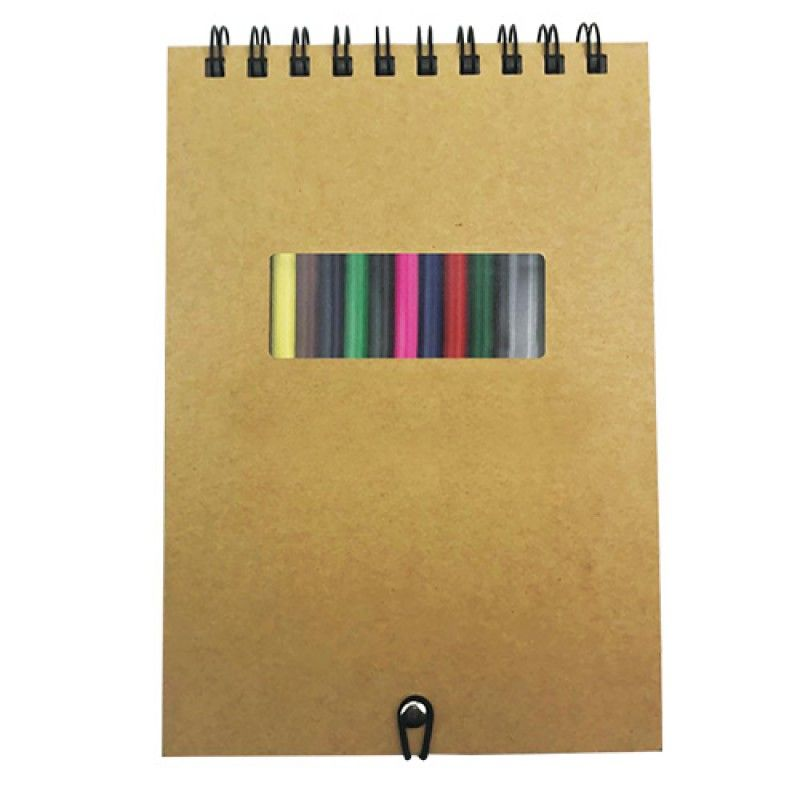Wholesale A5 Notebook with Crayons