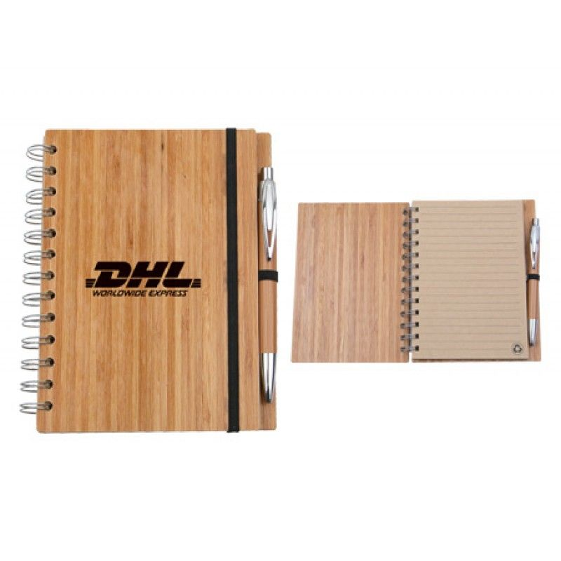 Wholesale Eco Bamboo Notebook with Pen