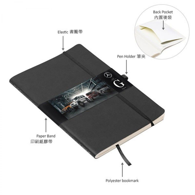 Wholesale PU A5 Soft Cover (stitched) Notebook