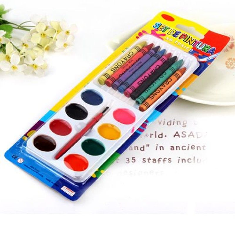 Wholesale Children 8 Color Watercolor Crayons