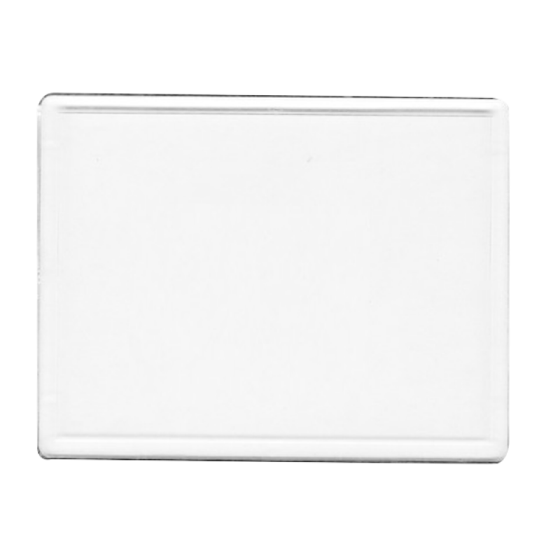 Wholesale BLANK - Snap-In Jumbo Rectangle Flat Magnet-[BW-27079]