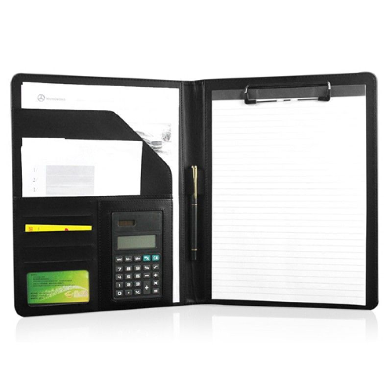 Wholesale A4 Executive Leather Folder With Calculator
