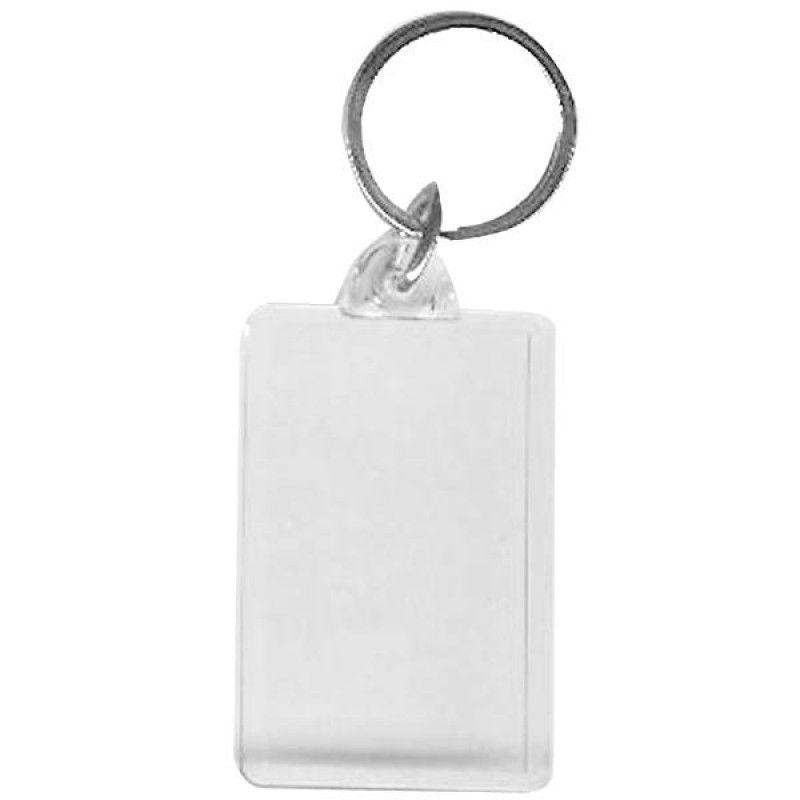 Wholesale BLANK - Snap-In Jumbo Rectangle Flat Key Tag-[BW-27071]