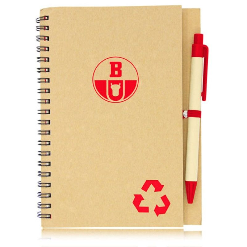 Wholesale Eco Friendly Spiral Notebook with Pen