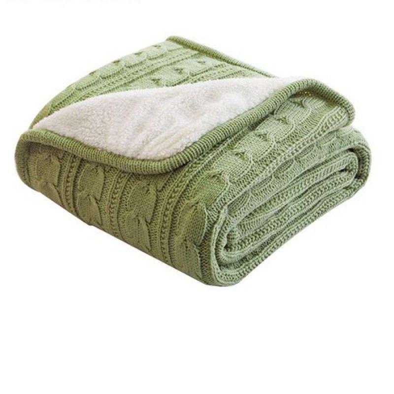 Wholesale Handmade Cotton Crochet Thick Fleece Blanket