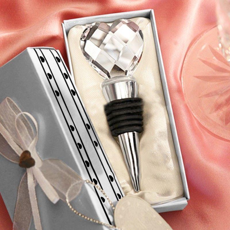 Wholesale Crystal Heart Wine Bottle Stopper