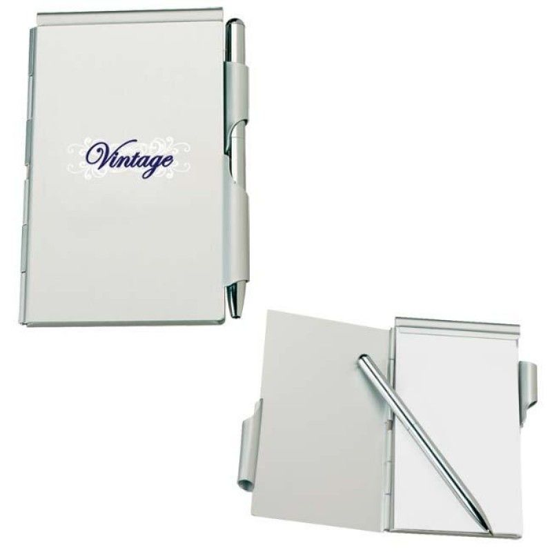 Wholesale Aluminum Jotter Pad with Pen-[NW-91953]