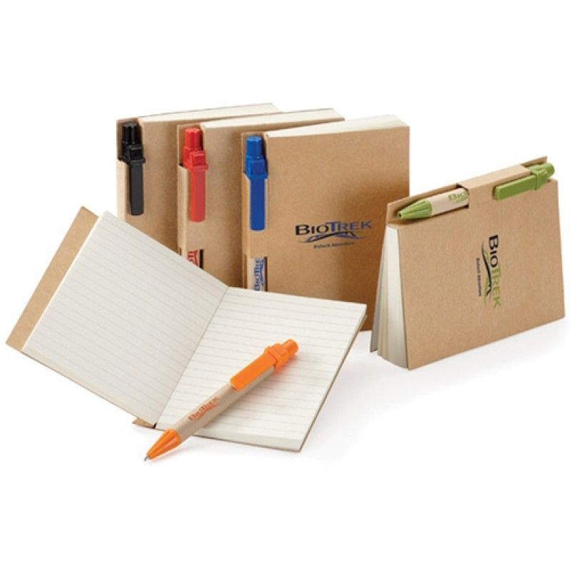 Wholesale Eco Kraft Cover Notepad With Pen