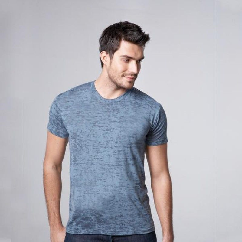 Wholesale Next Level Men's Burnout Crew Neck Tee-[EV-25005]