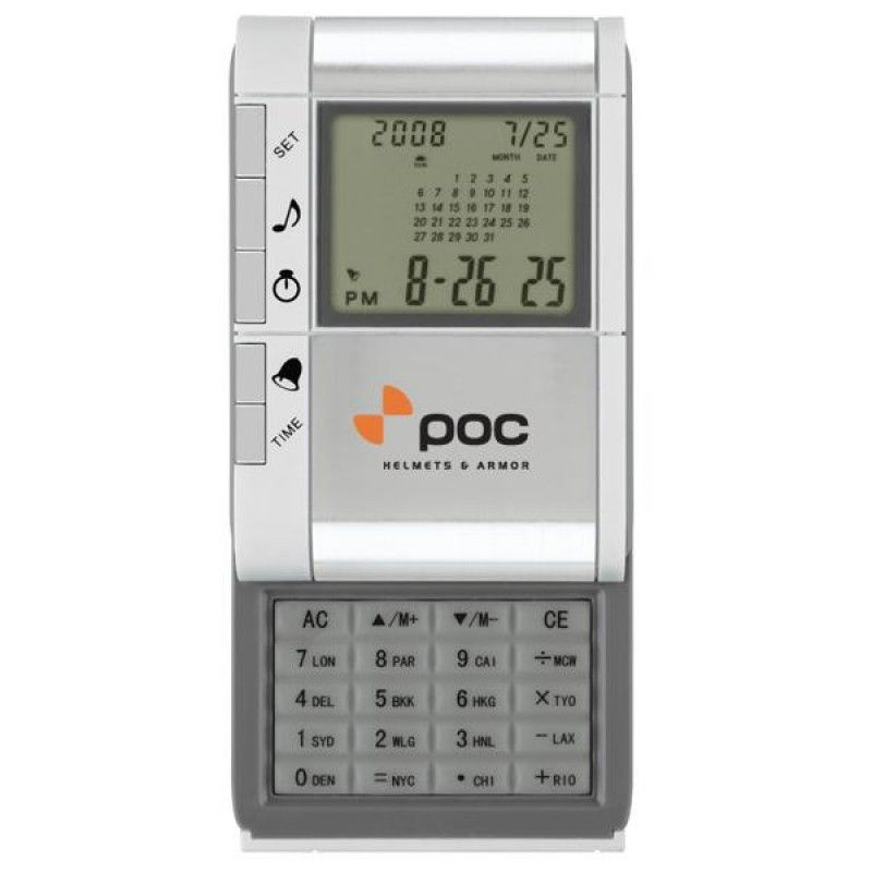 Wholesale Compact World Time Alarm/ Clock Calculator-[SW-28028]