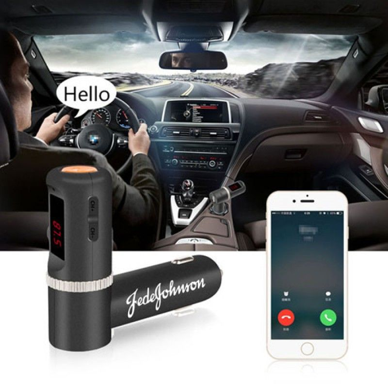 Wholesale Bluetooth FM Radio Transmitter With Dual USB Charging