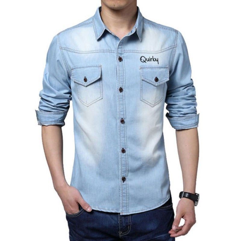 Wholesale Autumn Fashion Slim Fit Jean Shirts