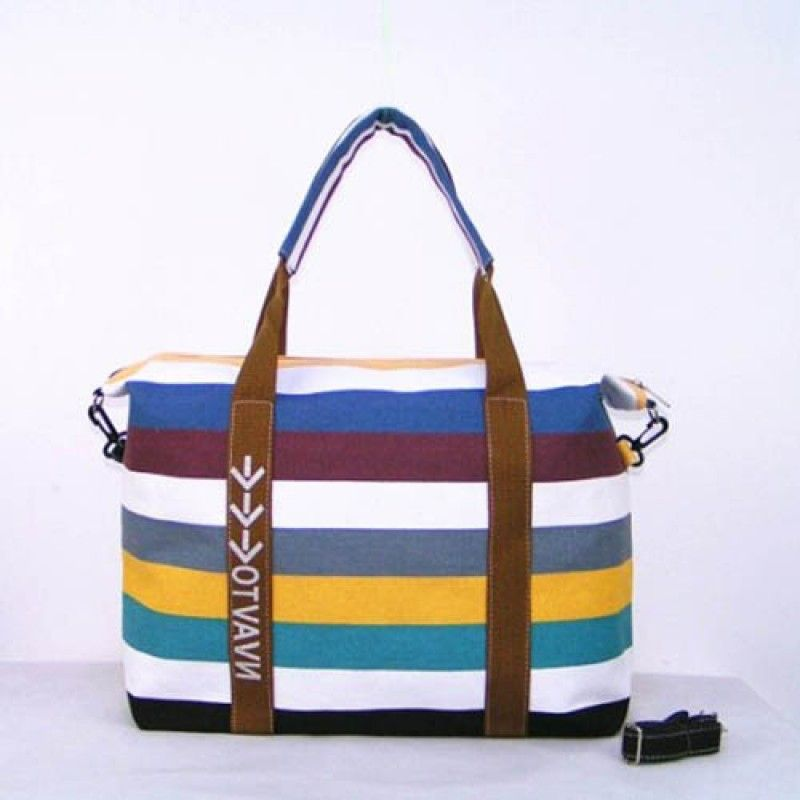 Wholesale Ladies Strip Tote Shopping Handbag