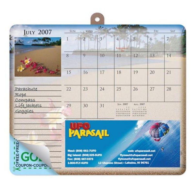 Wholesale Standard Texture 12 x 7 1/4 x 8 1/2 Calendar Mouse Pad-[DG-27053]
